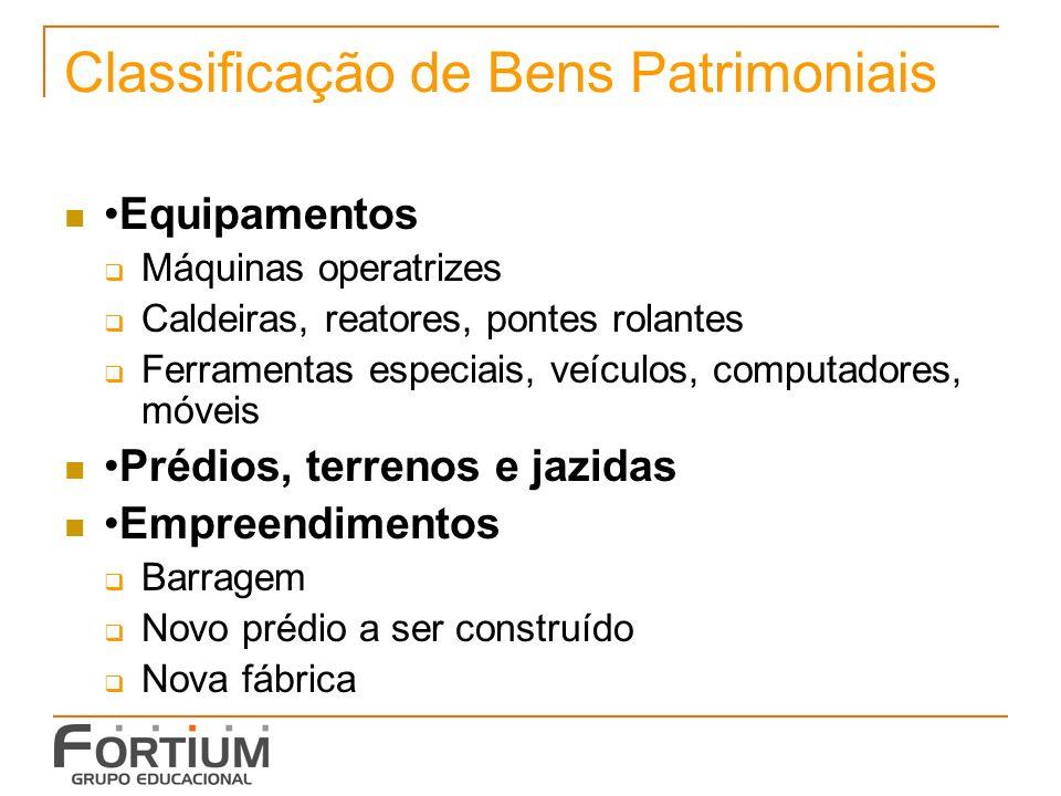Classificação de Bens Patrimoniais