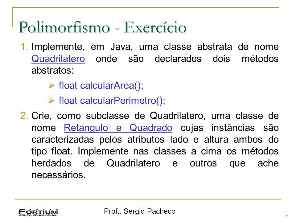 Polimorfismo - Exercício