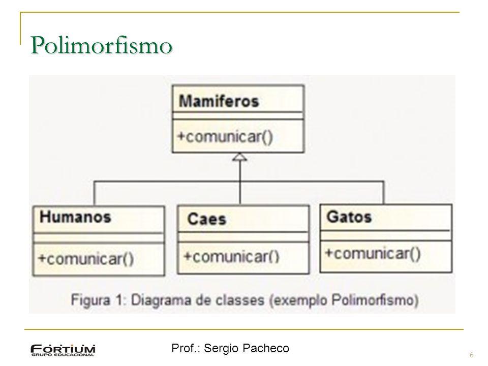 Polimorfismo Prof.: Sergio Pacheco 6 6