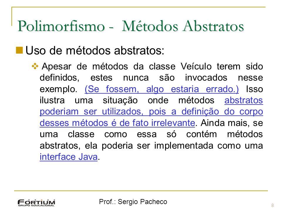 Polimorfismo - Métodos Abstratos