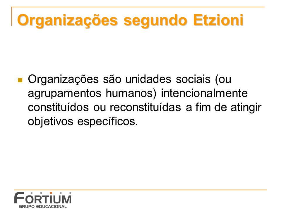 Organizações segundo Etzioni