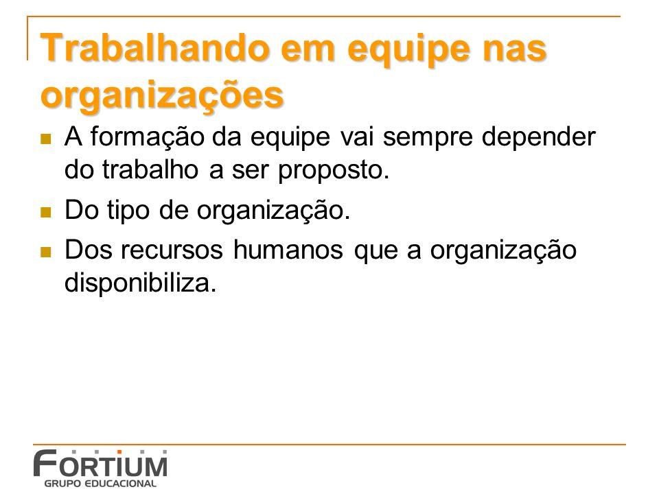 Trabalhando em equipe nas organizações