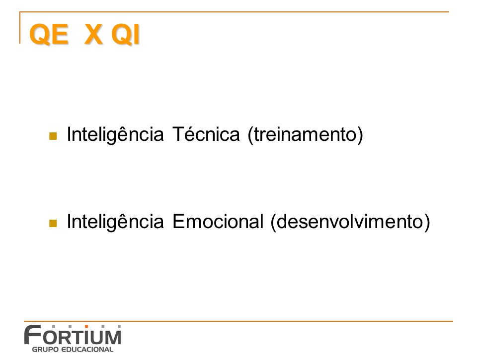 QE X QI Inteligência Técnica (treinamento)