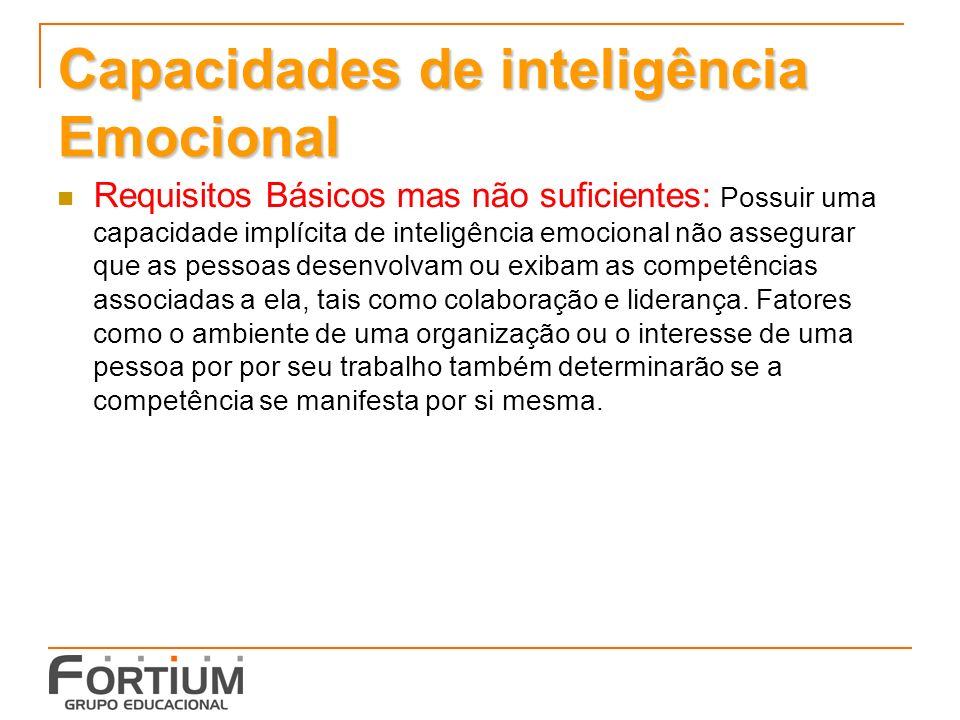 Capacidades de inteligência Emocional