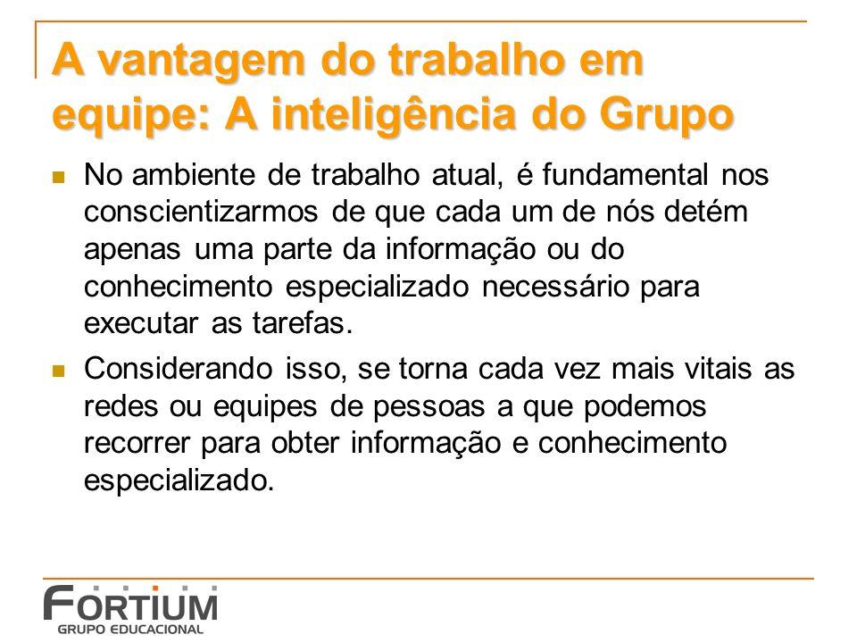 A vantagem do trabalho em equipe: A inteligência do Grupo