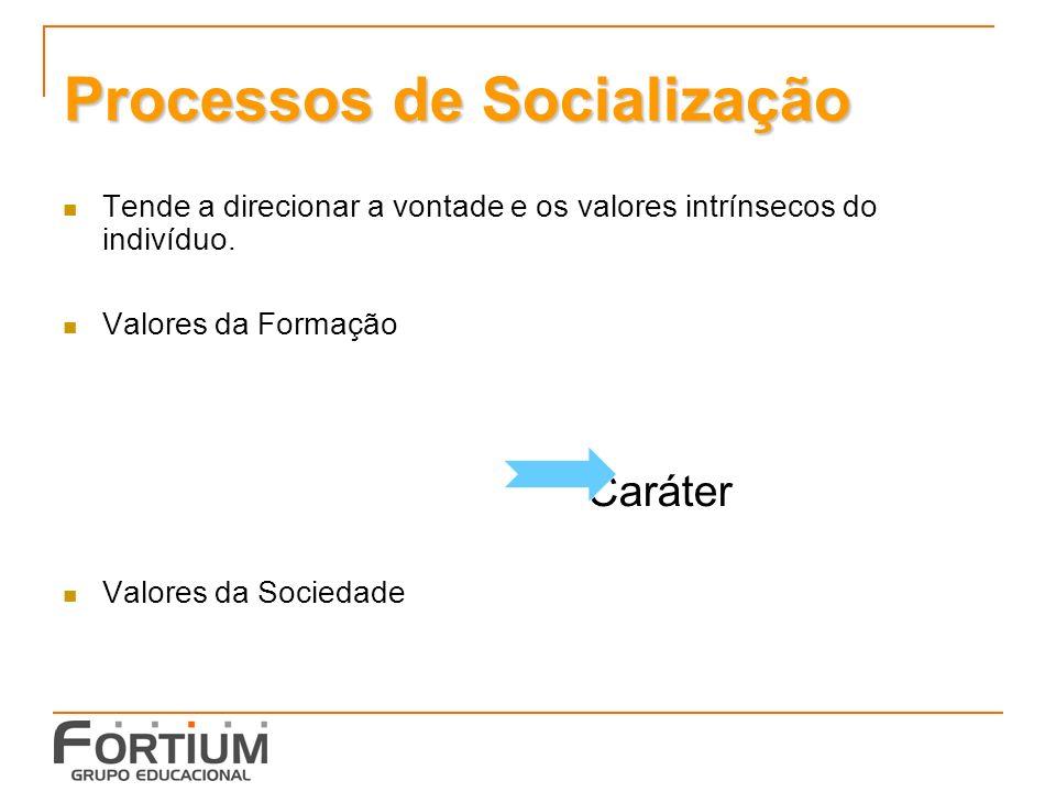 Processos de Socialização