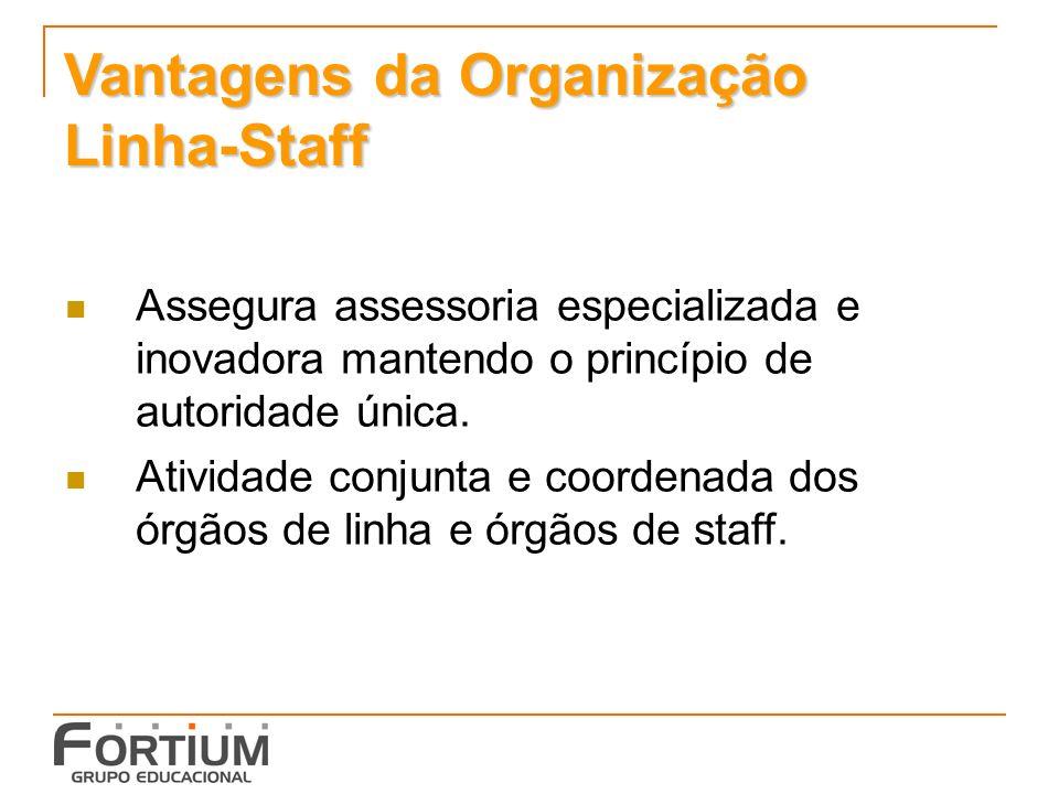 Vantagens da Organização Linha-Staff