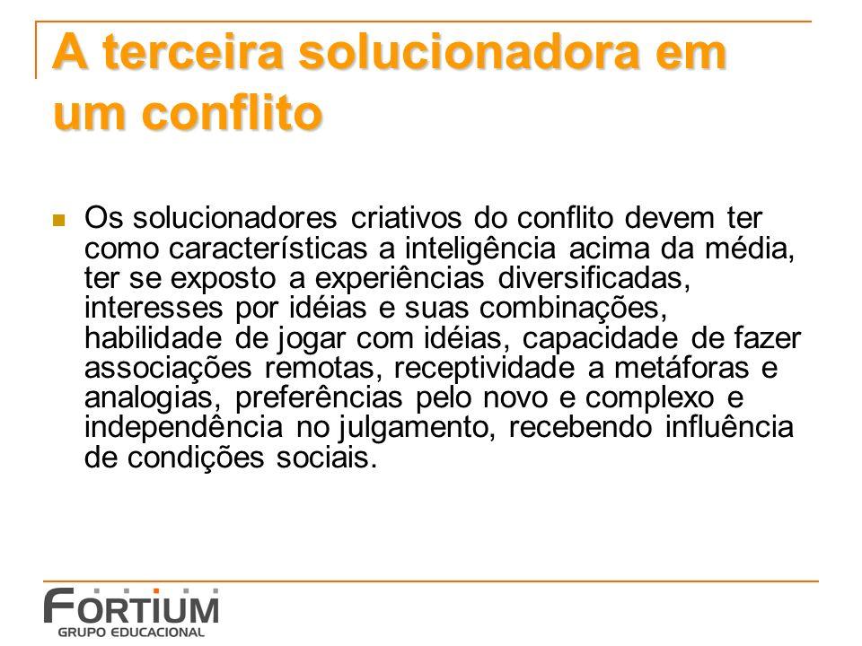 A terceira solucionadora em um conflito