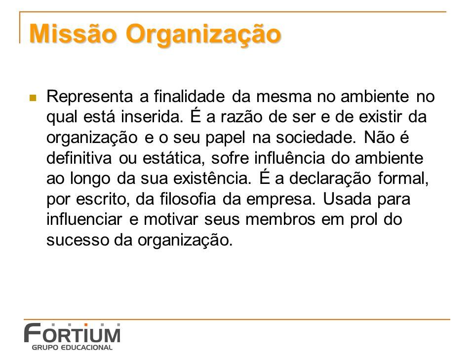 Missão Organização