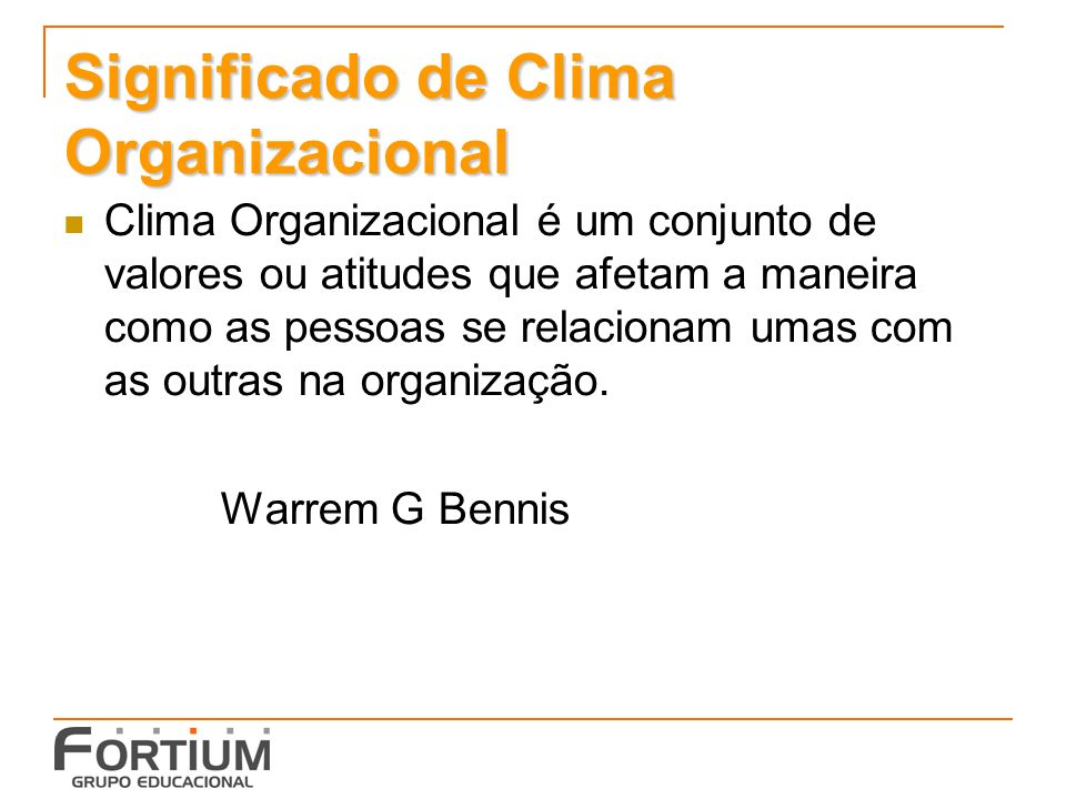 Significado de Clima Organizacional