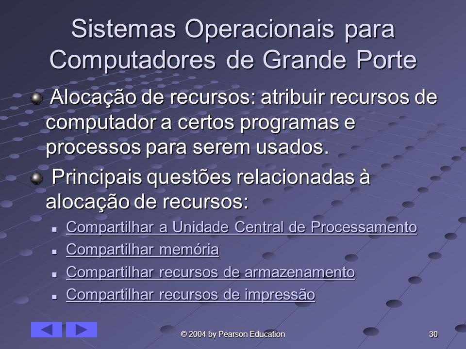 Sistemas Operacionais para Computadores de Grande Porte