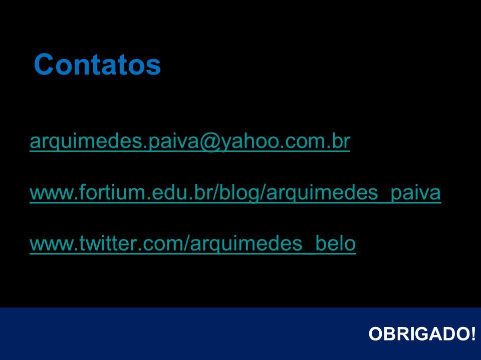 Contatos arquimedes.paiva@yahoo.com.br