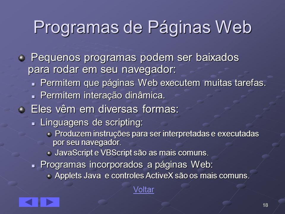 Programas de Páginas Web