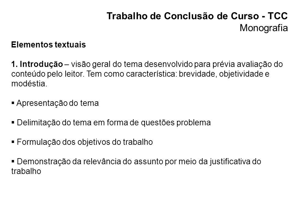 Trabalho de Conclusão de Curso - TCC Monografia