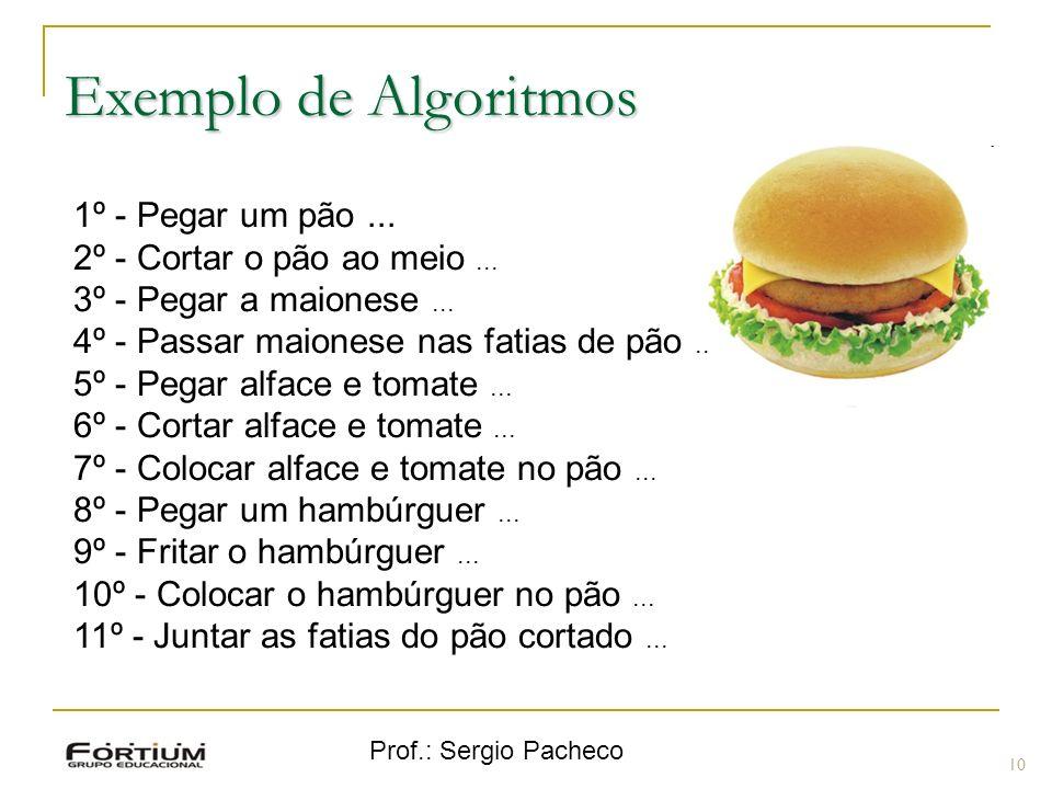 Exemplo de Algoritmos 1º - Pegar um pão ...