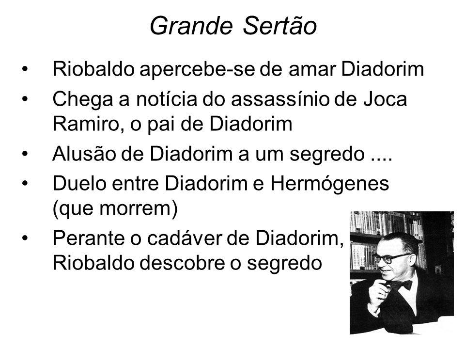 Grande Sertão Riobaldo apercebe-se de amar Diadorim