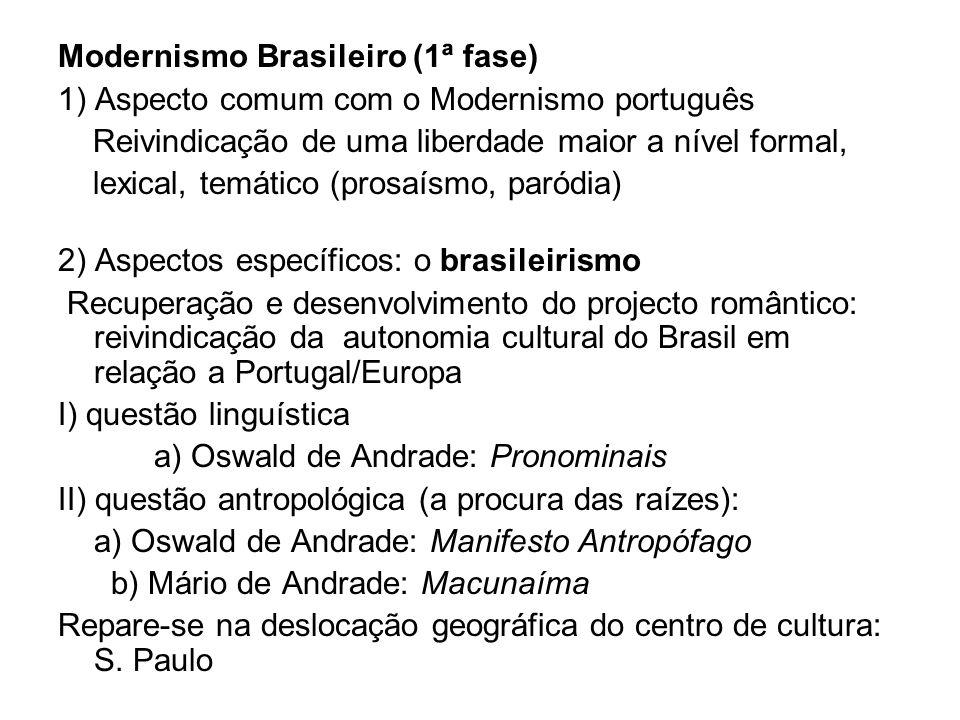 Modernismo Brasileiro (1ª fase)