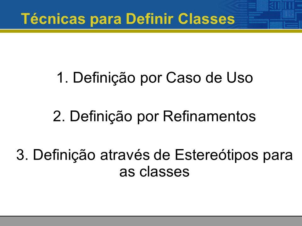 Técnicas para Definir Classes
