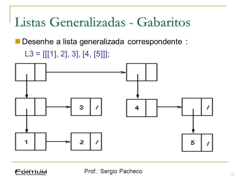 Listas Generalizadas - Gabaritos