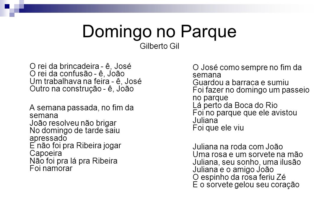 Domingo no Parque Gilberto Gil