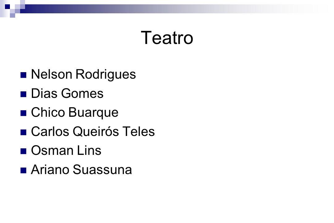 Teatro Nelson Rodrigues Dias Gomes Chico Buarque Carlos Queirós Teles