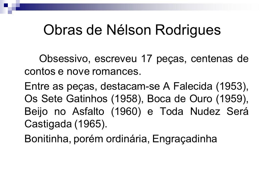 Obras de Nélson Rodrigues
