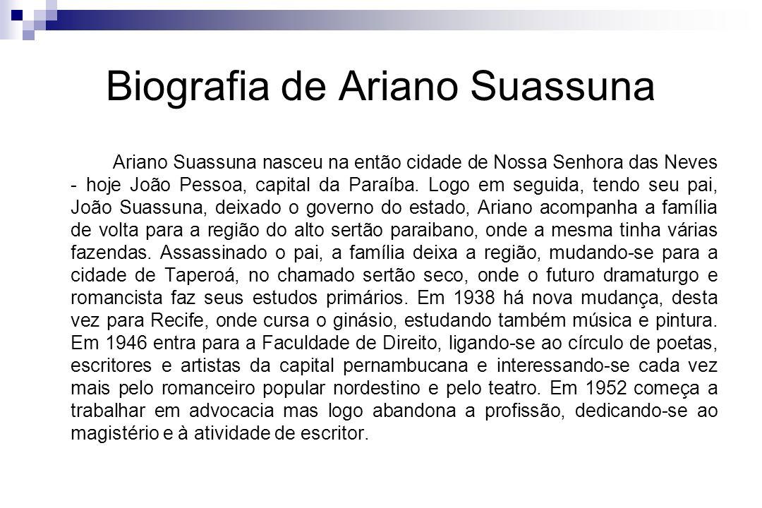 Biografia de Ariano Suassuna