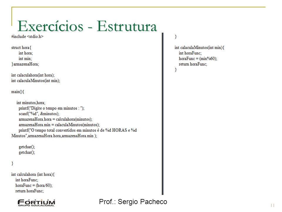 Exercícios - Estrutura