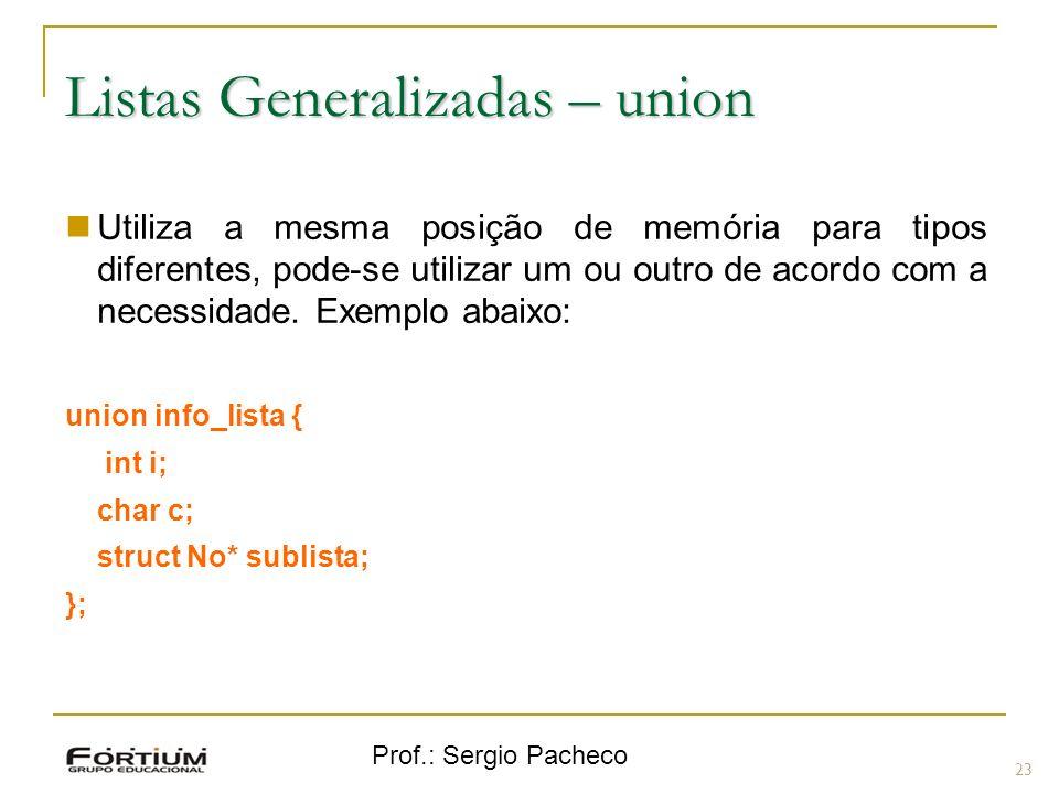 Listas Generalizadas – union