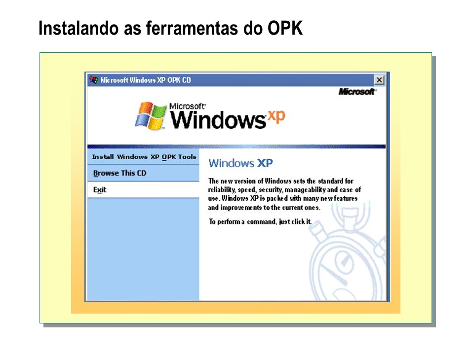 Instalando as ferramentas do OPK