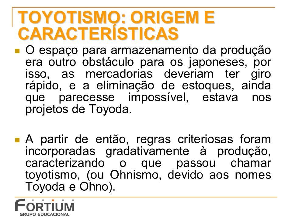 TOYOTISMO: ORIGEM E CARACTERÍSTICAS
