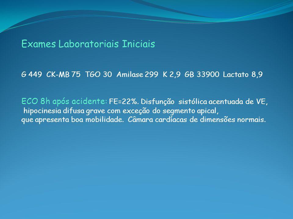 Exames Laboratoriais Iniciais