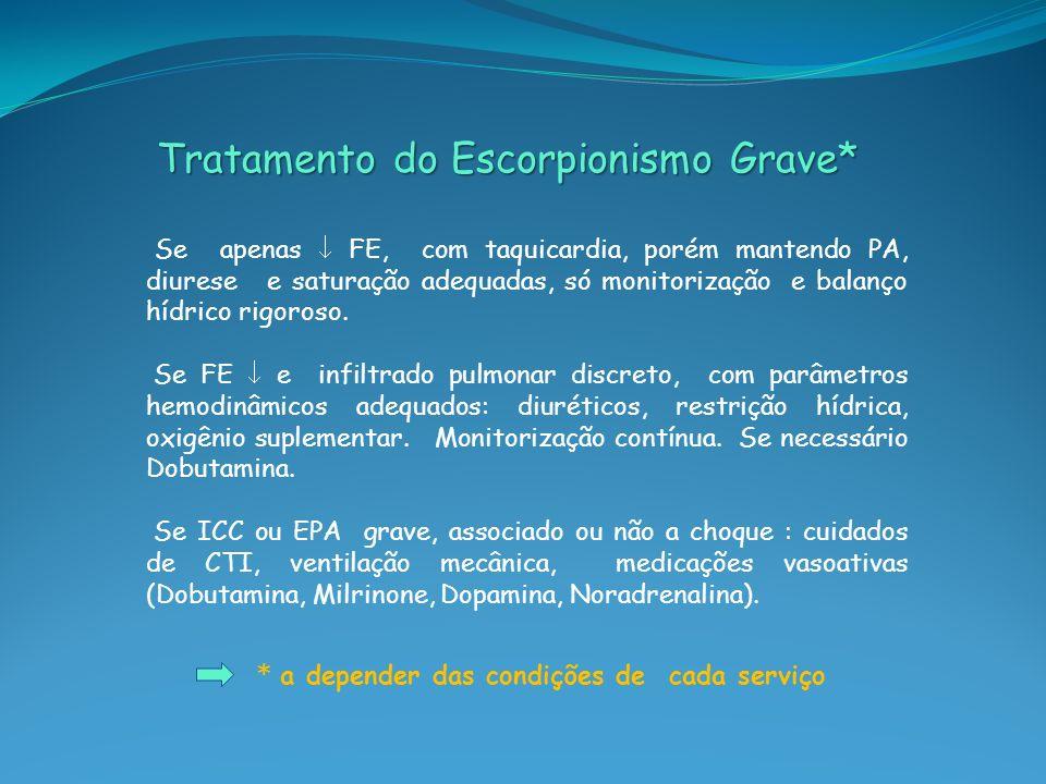 Tratamento do Escorpionismo Grave*