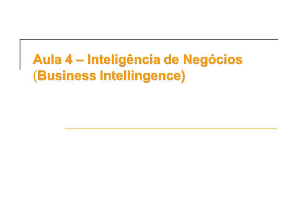 Aula 4 – Inteligência de Negócios (Business Intellingence)