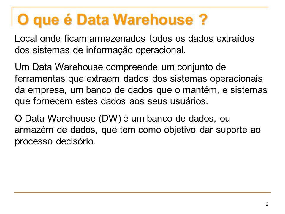 O que é Data Warehouse Local onde ficam armazenados todos os dados extraídos dos sistemas de informação operacional.