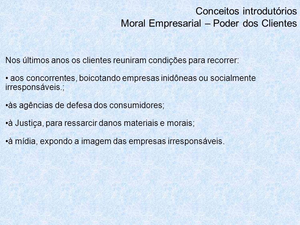 Conceitos introdutórios Moral Empresarial – Poder dos Clientes