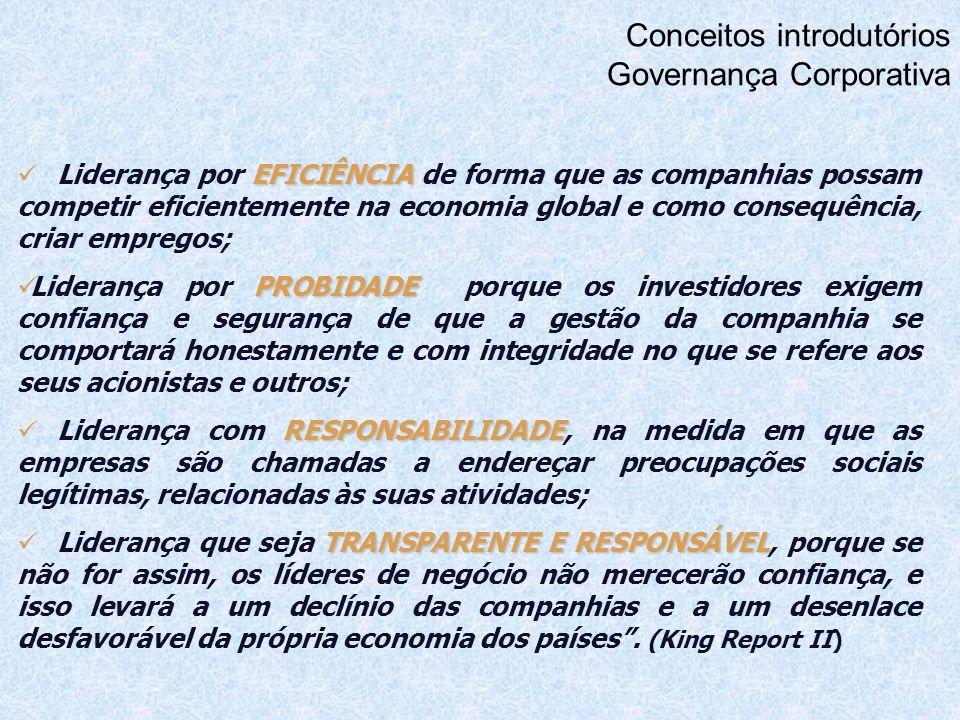 Conceitos introdutórios Governança Corporativa