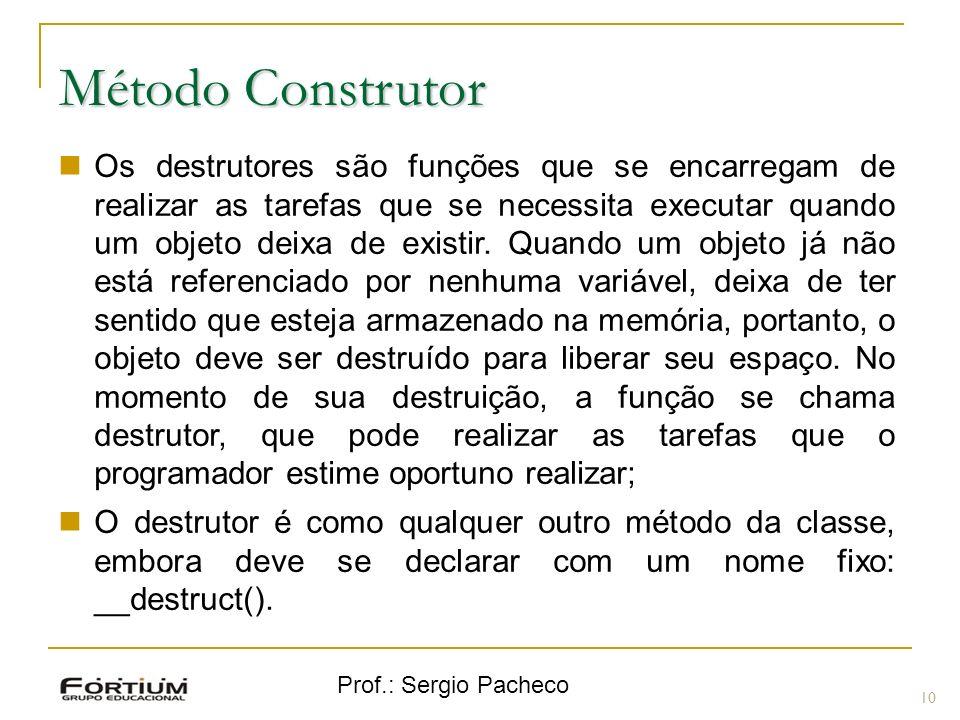 Método Construtor