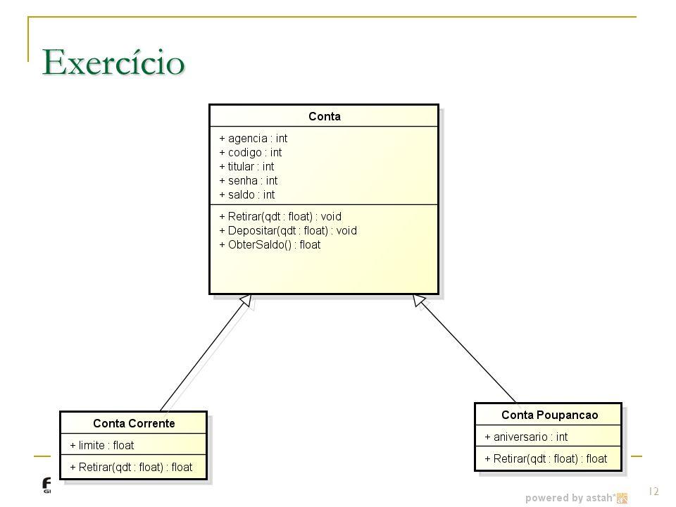 Exercício Prof.: Sergio Pacheco 12 12