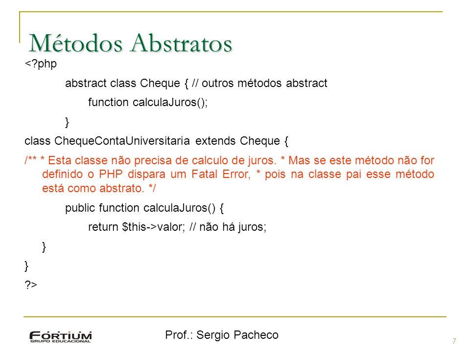 Métodos Abstratos < php