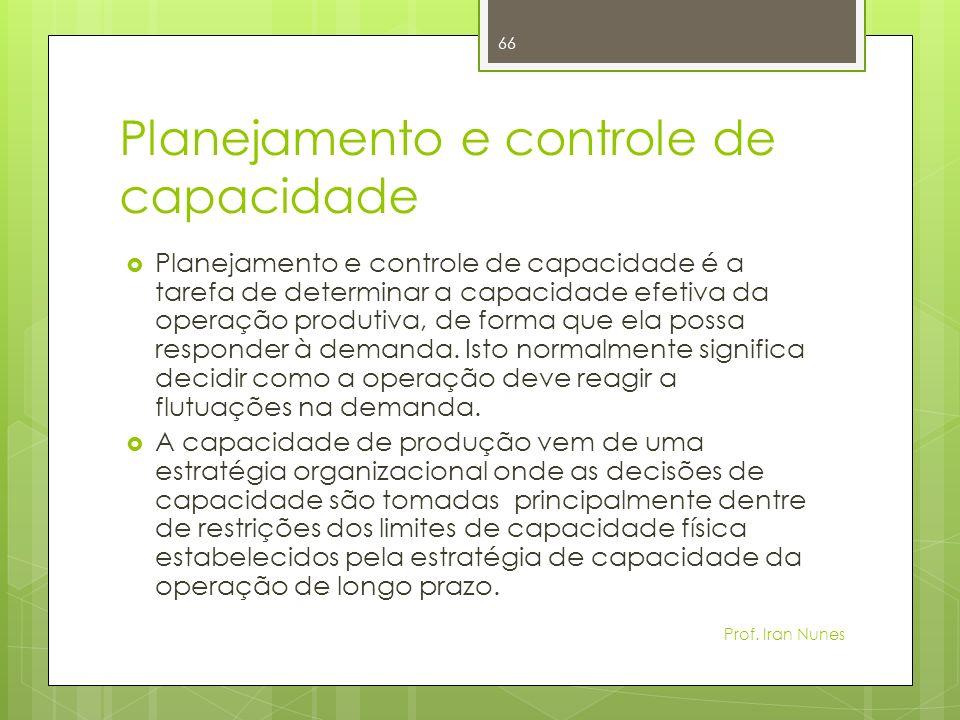 Planejamento e controle de capacidade