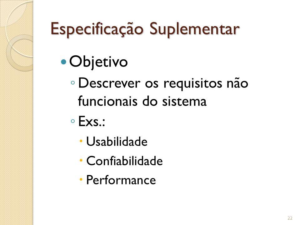 Especificação Suplementar