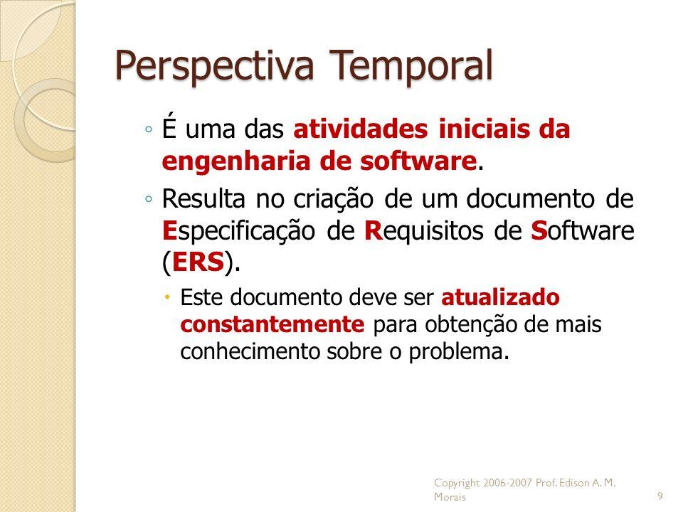 Perspectiva Temporal É uma das atividades iniciais da engenharia de software.