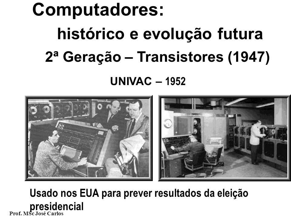 histórico e evolução futura 2ª Geração – Transistores (1947)