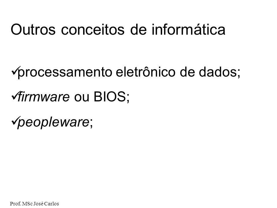 Outros conceitos de informática