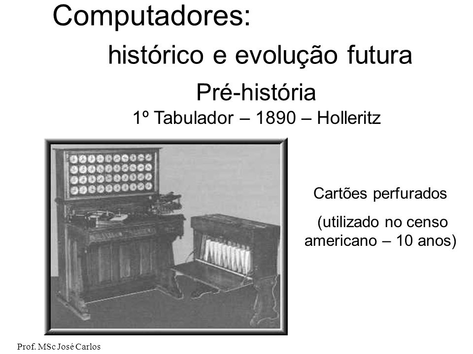 Computadores: histórico e evolução futura Pré-história