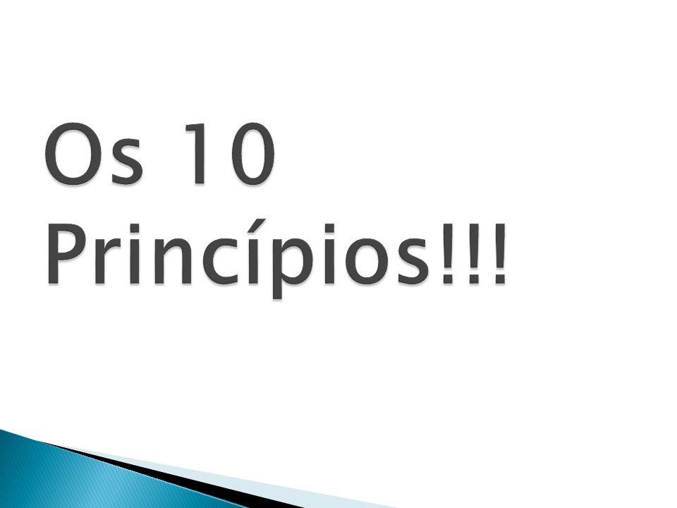 Os 10 Princípios!!!