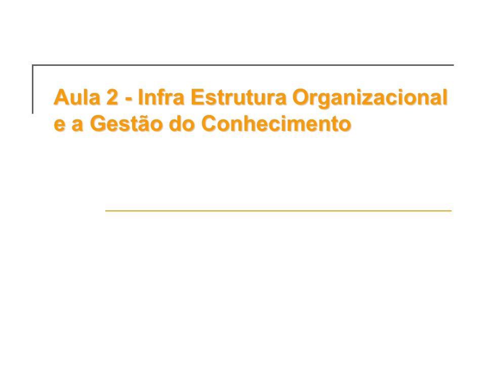 Aula 2 - Infra Estrutura Organizacional e a Gestão do Conhecimento