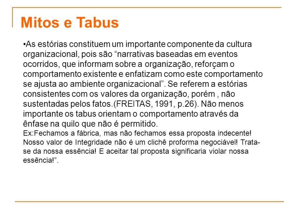 Mitos e Tabus