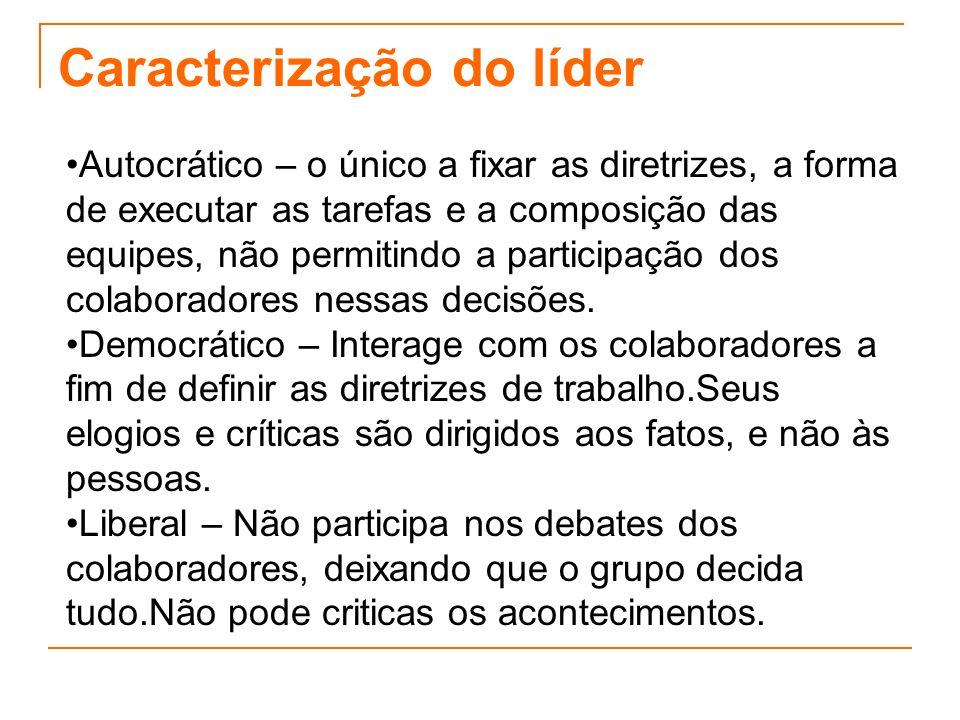 Caracterização do líder